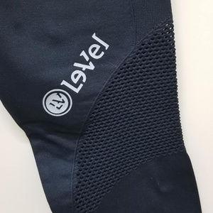 Le-Vel brand promoter NUX mesh panel legging